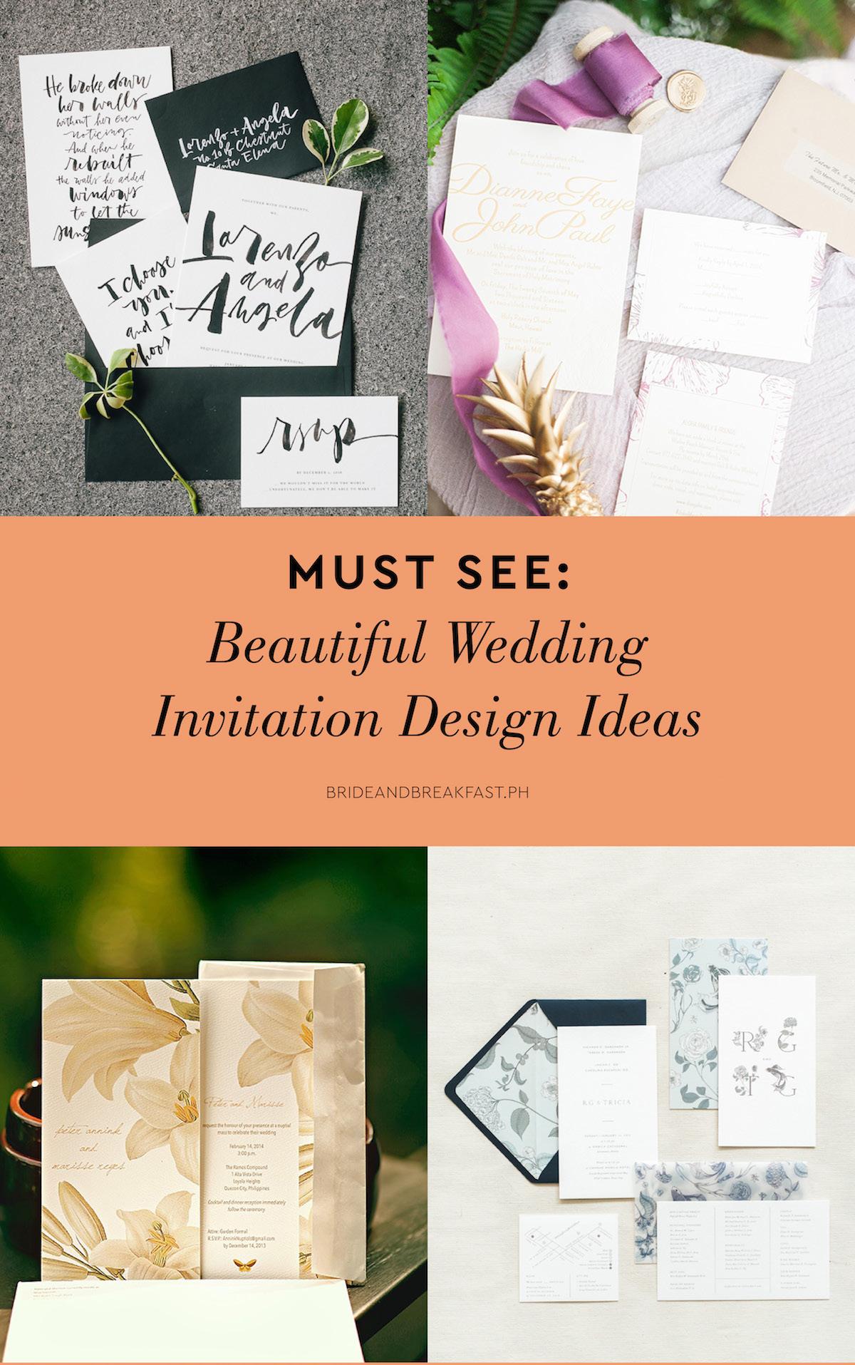 Must See: Beautiful Wedding Invitation Design Ideas